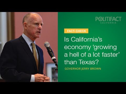 Is California's economy growing faster than Texas?