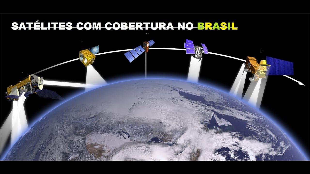 Resultado de imagem para 44 Satélites com Cobertura no Brasil