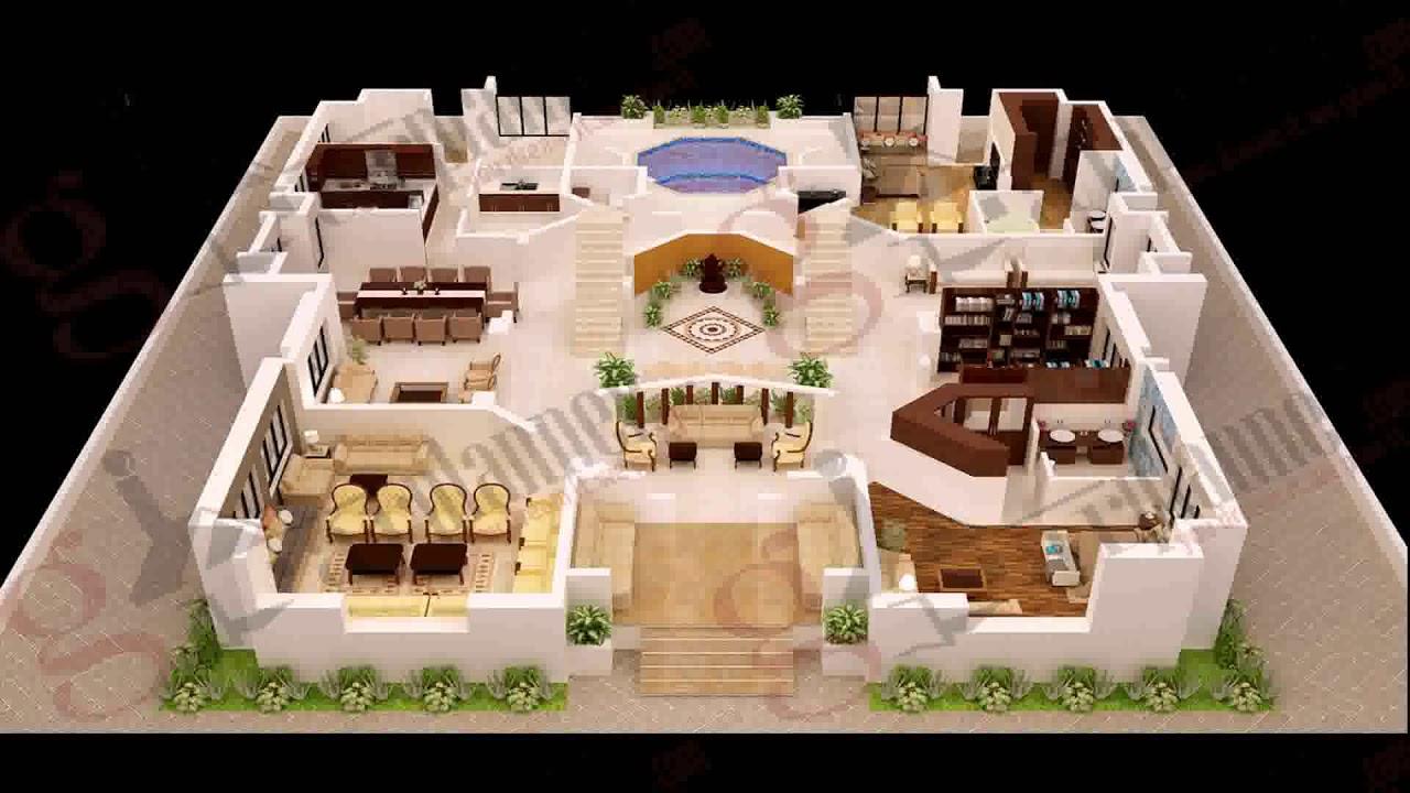 2 Bedroom House Floor Plan Design 3d Youtube