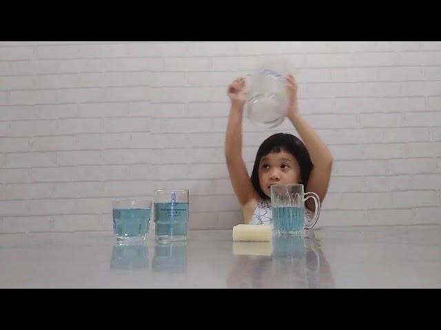 Glasses   Pitcher   Spill   Clean up   Pour back   Sponge    แตงโม