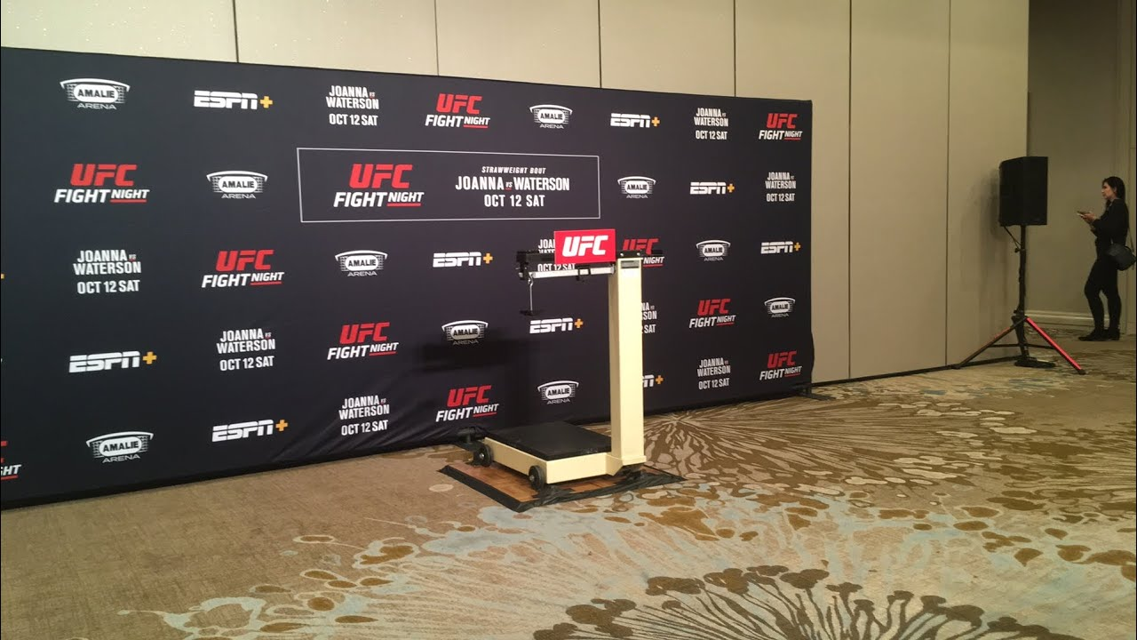 UFC Tampa Official Weigh-Ins Live Stream – MMAFightingonSBN