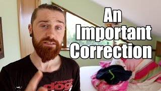 Vlog - An important Correction