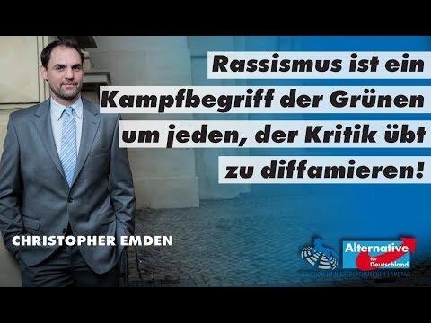 Christopher Emden(AfD) über Rassismus bei den Grünen