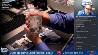 2018 09 20 2001 Upper Deck SP Football Game-Used Box 3