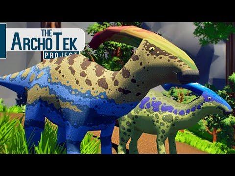 The Archotek Project - Fugindo Do Tiranossauro Rex, Parasaurolophus! | Dinossauros (#6) (PT-BR)