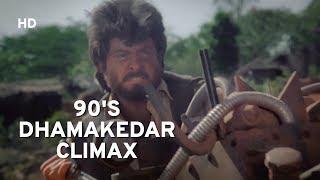 CLIMAX SCENE | Anil Kapoor | Kader Khan | Johnny Lever | Gulshan Grover | Kasam | Action Movie