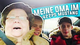 MEINE OMA IM 422 PS AUTO! REAKTION! - mit Omi