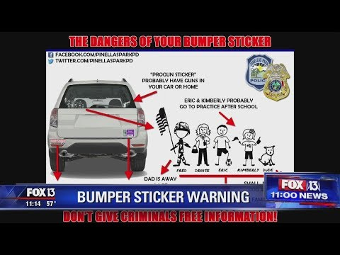 Randi West - Bumper stickers are DANGEROUS to your families safety