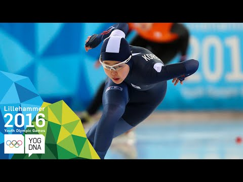 Speed Skating 500m - Min Sun Kim (KOR) wins Women's gold   Lillehammer 2016 Youth Olympic Games