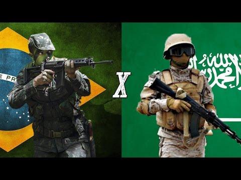 Brasil x Arábia Saudita - Comparação Militar