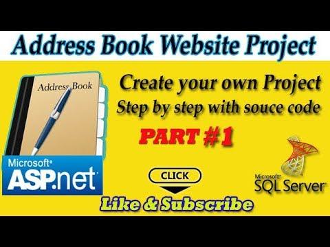 Address Book website Project in ASP.NET Part#1
