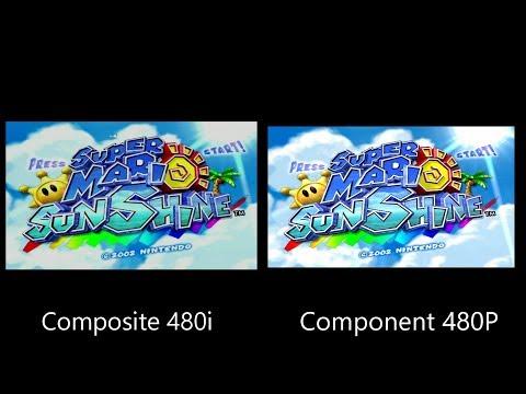 Super Mario Sunshine 480i vs 480P Comparison