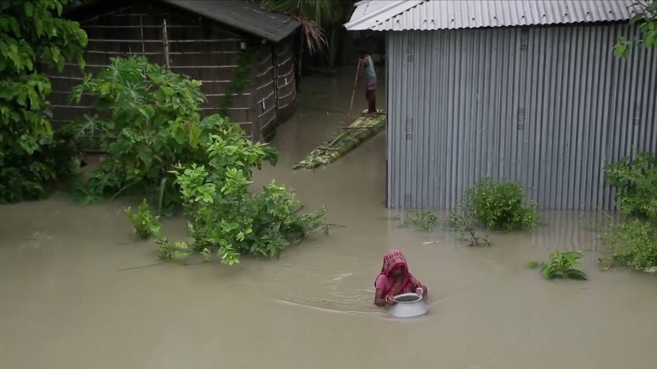 (INDIA, NEPAL, India, BANGLADESH, July 2019) Over 130 killed, millions displaced from floods in Sout