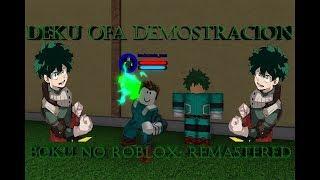 Boku no roblox: remastered, Deku's OFA demonstration!