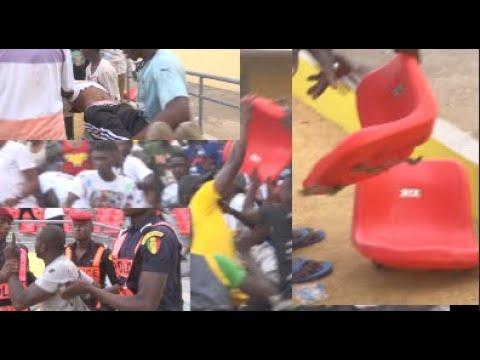 Rififi à l'arène nationale : Une bataille rangée entre supporters, ds chaises vandalisées et saccagé
