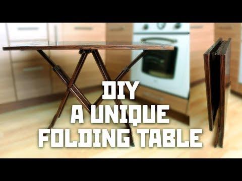 A unique folding table | DIY blueprints