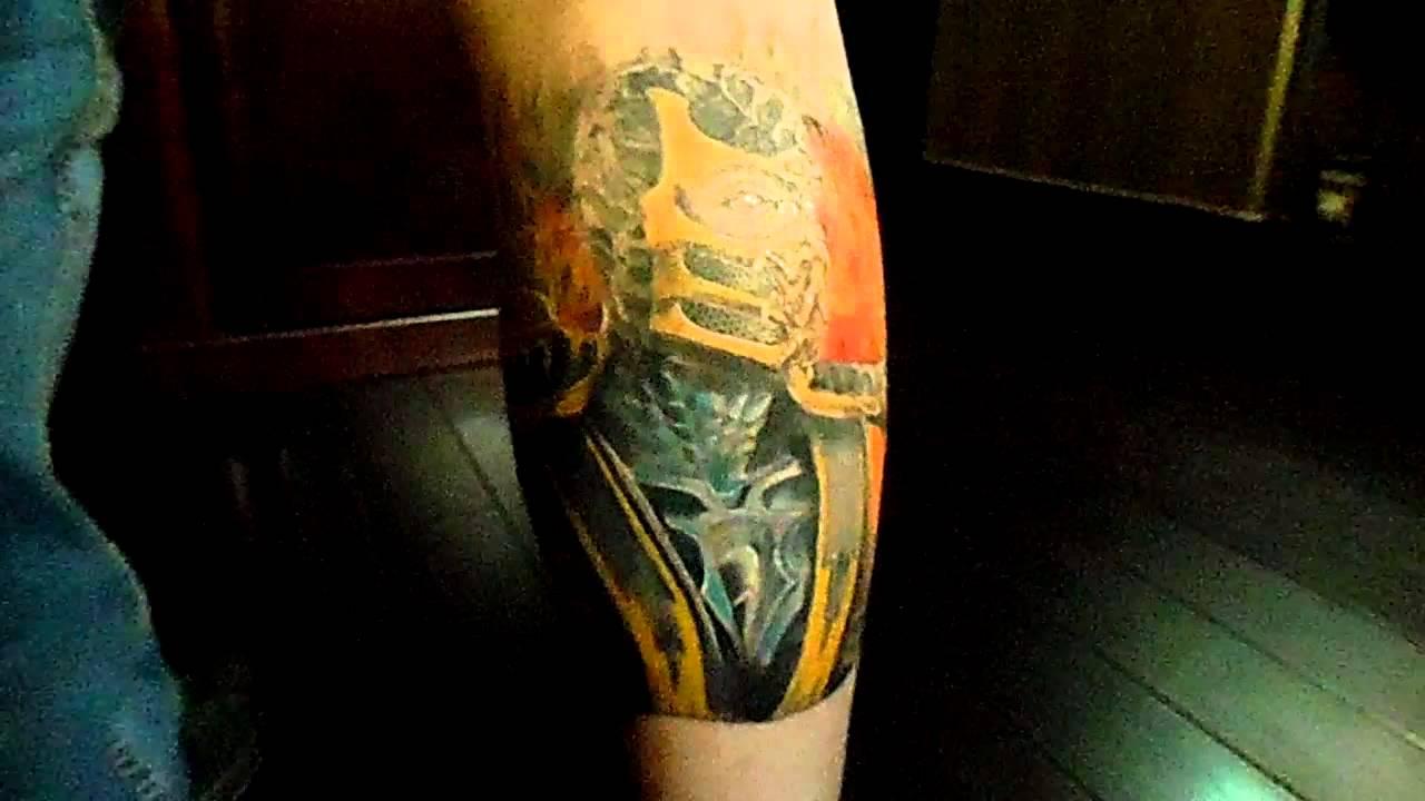 Mortal Kombat Scorpion Tattoo Healed Youtube
