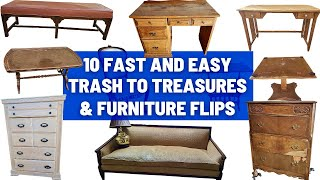 10 Fast and Easy DIY Thrifted Furniture Flips