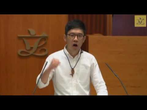 Incoming lawmaker Nathan Law clashes with LegCo secretary general Kenneth Chen at LegCo oath taking