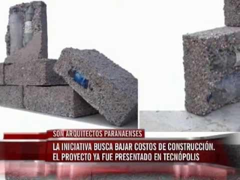 Arquitectos paranaenses crean ladrillos con material for Como construir pileta de material