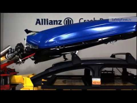 Crash Test σε Μπαγκαζιέρα οροφής που ανοίγει κατά το τρακάρισμα