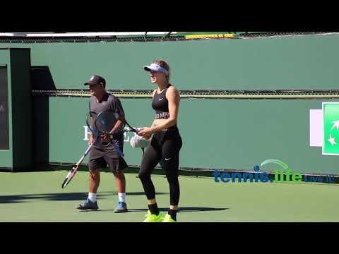 Genie Bouchard racket tests