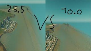 Cities skylines 10.0 Tsunami VS 25.5 Tsunami !!!