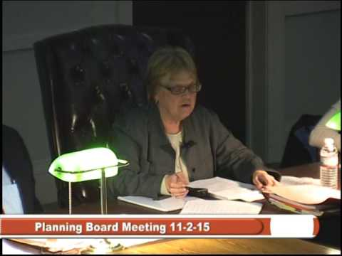 Planning Board 11-2-15 - Special Town Meeting Zoning Article
