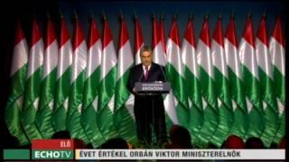 Orbán Viktor évértékelő beszéde - Echo Tv
