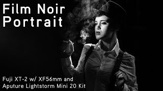 Aputure Lightstorm Mini 20 Film Noir Portrait Shoot