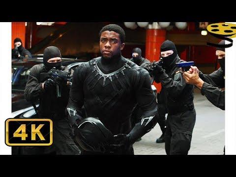 Чёрная Пантера против Зимнего Солдата. Погоня | Первый мститель: Противостояние | 4K ULTRA HD