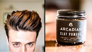 GREAT Hair Products | Soft Clay with LOTS of Texture + Hold | Arcadian Clay Pomade