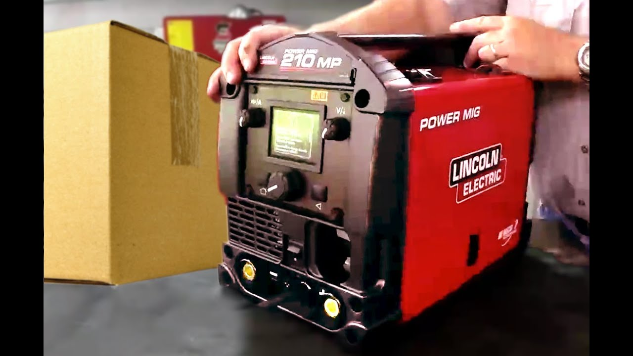 Lincoln Electric Power Mig 210 MP welding machine  unboxing and     Lincoln Electric Power Mig 210 MP welding machine  unboxing and review    YouTube