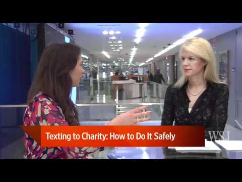 Texting to Charity: How to Do It Safely