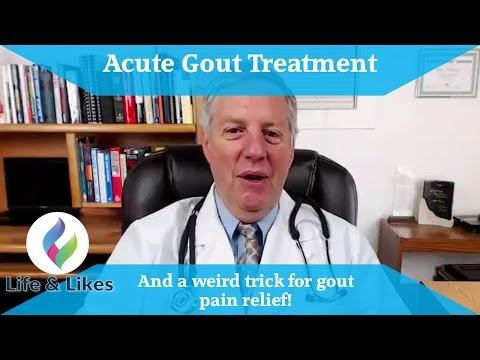 acute gout treatment and a weird trick for gout pain relief!!