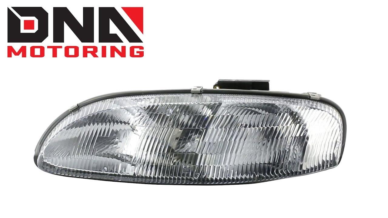 Dna Motoring 95 01 Chevy Lumina 99 Monte Carlo Chrome Clear Headlights