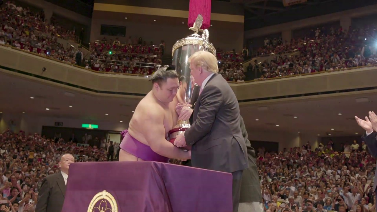 The White House - President Trump and the First Lady Attend a Sumo Wrestling Match in Japan