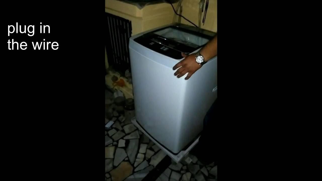 install washing machine at home - YouTube
