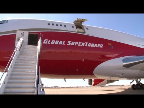 747 SuperTanker joins California's firefighting fleet