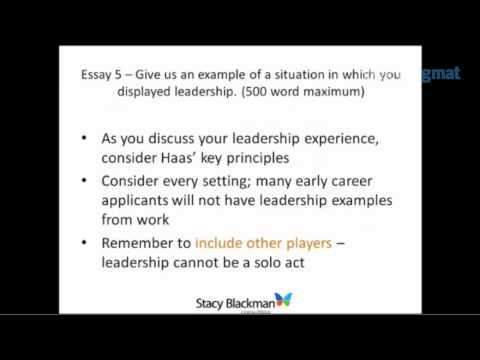 Breakdown of 2010 Haas MBA Admissions Essays
