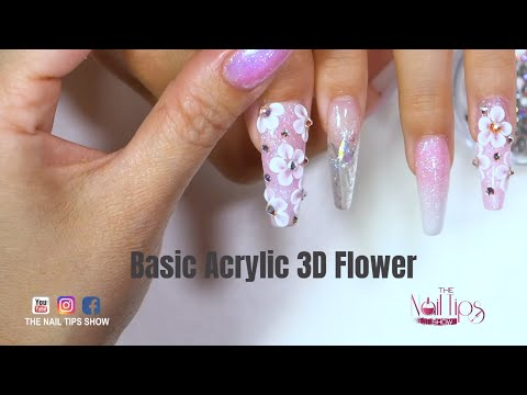 3D Nail Flowers For Beginners