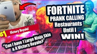 """Can I have Ligma Fortnite Ninja Skin"" PRANK CALLING RESTAURANTS ON FORTNITE LIVE - FORTNITE PRANKS"