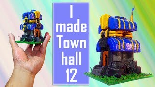 Making Town hall 12 from Clash of clans | With relaxing music