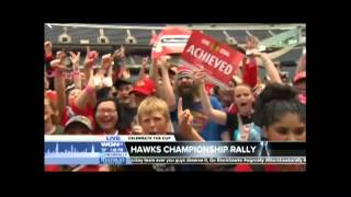 Fan Drop The F Bomb During Marcus LeShock Segment After The Blackhawks Rally