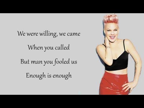 P!nk - WHAT ABOUT US (Lyrics)