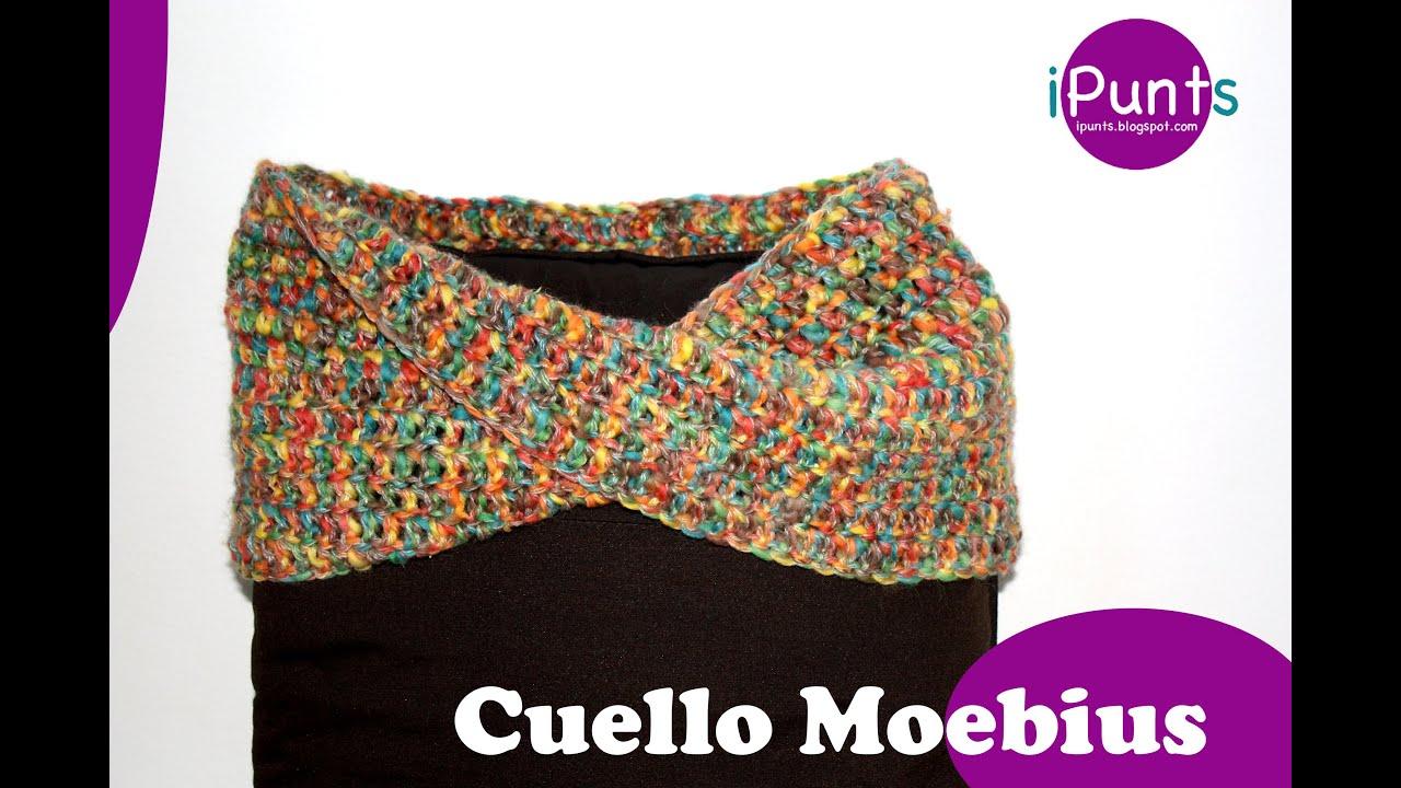 Tutorial Cuello Moebius crochet paso a paso - YouTube