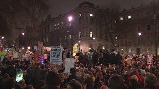 Thousands protest Trump