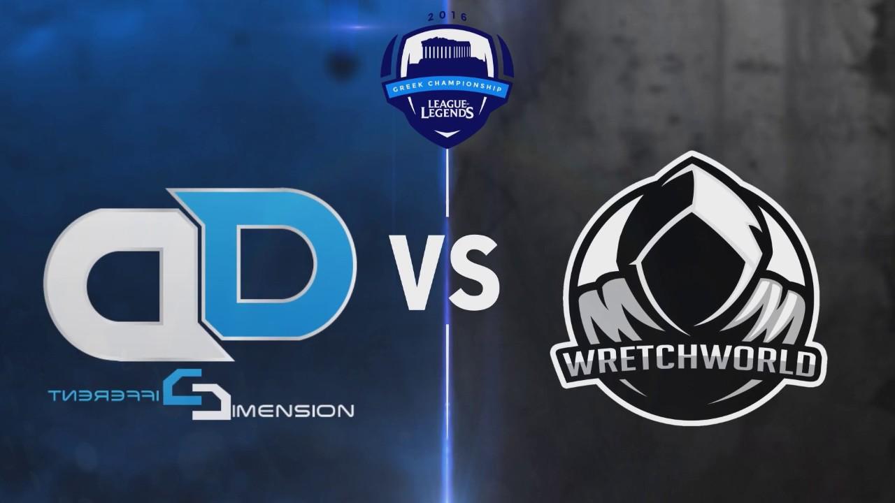 League of Legends Greek Championship Season 1 - Week 4 | Different  Dimension eSports vs  Wretchworld