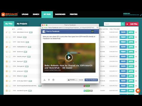 Sharing 3D Models - Social Share Powered by Sketchfab