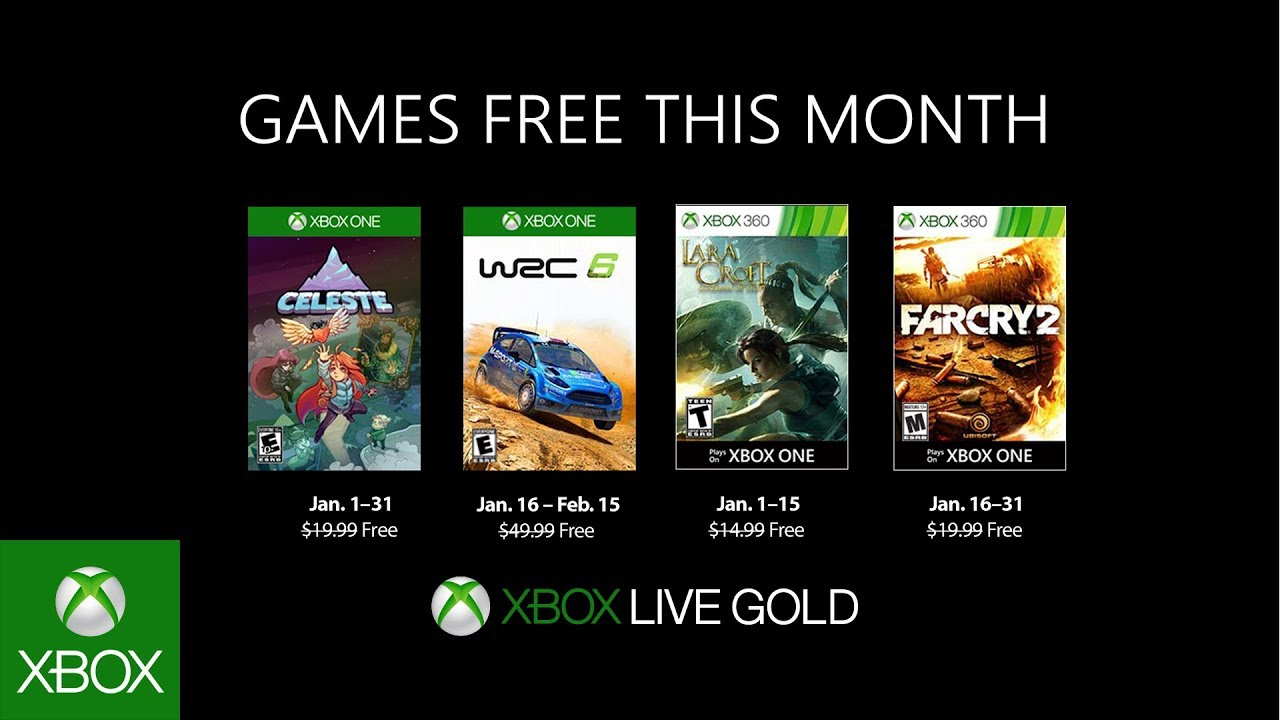 Xbox January 2019 Games With Gold Youtube